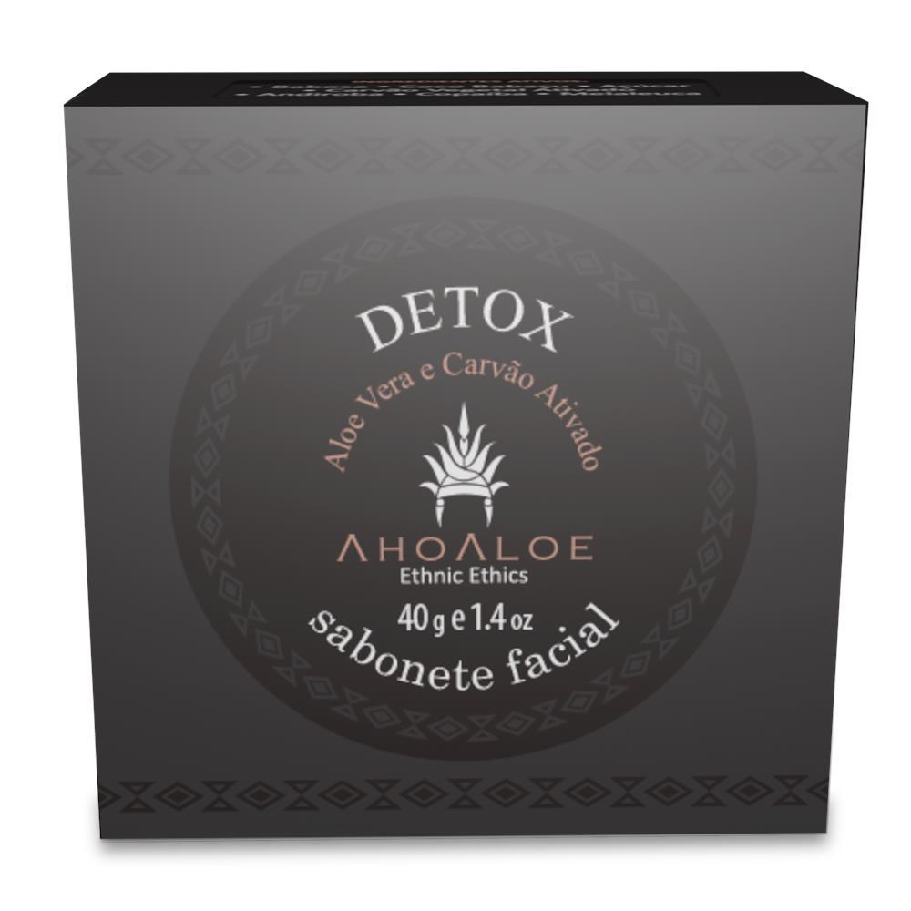 Sabonete Facial Natural e Vegano Detox Ahoaloe 40g