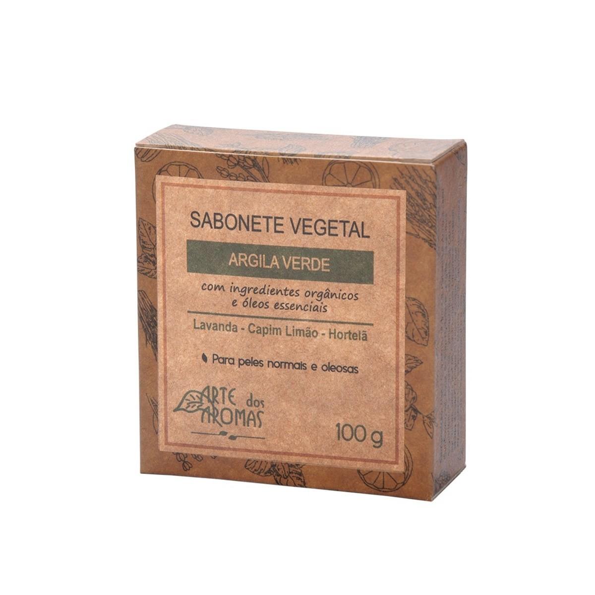 Sabonete Natural e Vegano Arte dos Aromas Argila Verde 100g