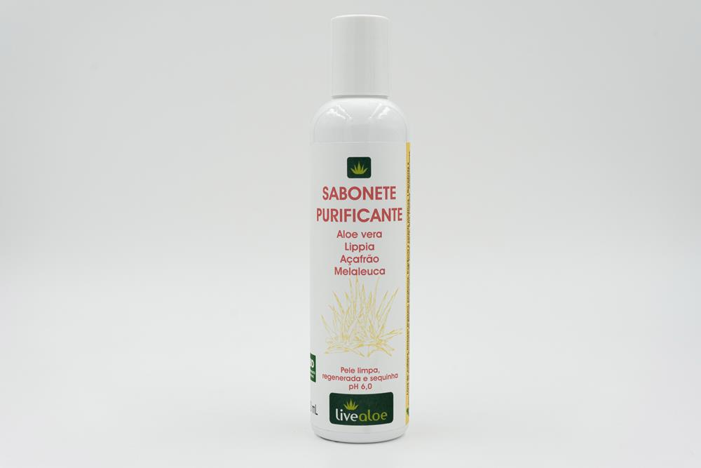 Sabonete Purificante Natural e Vegano Livealoe 200ml