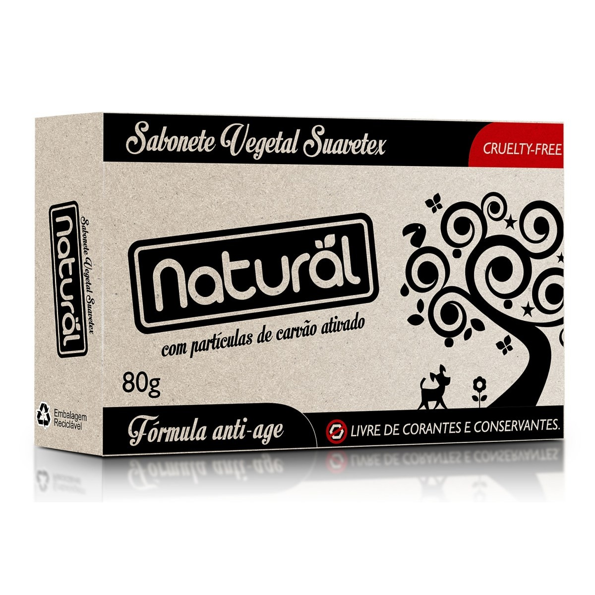 Sabonete Vegano com Carvão Ativado Natural 80 g