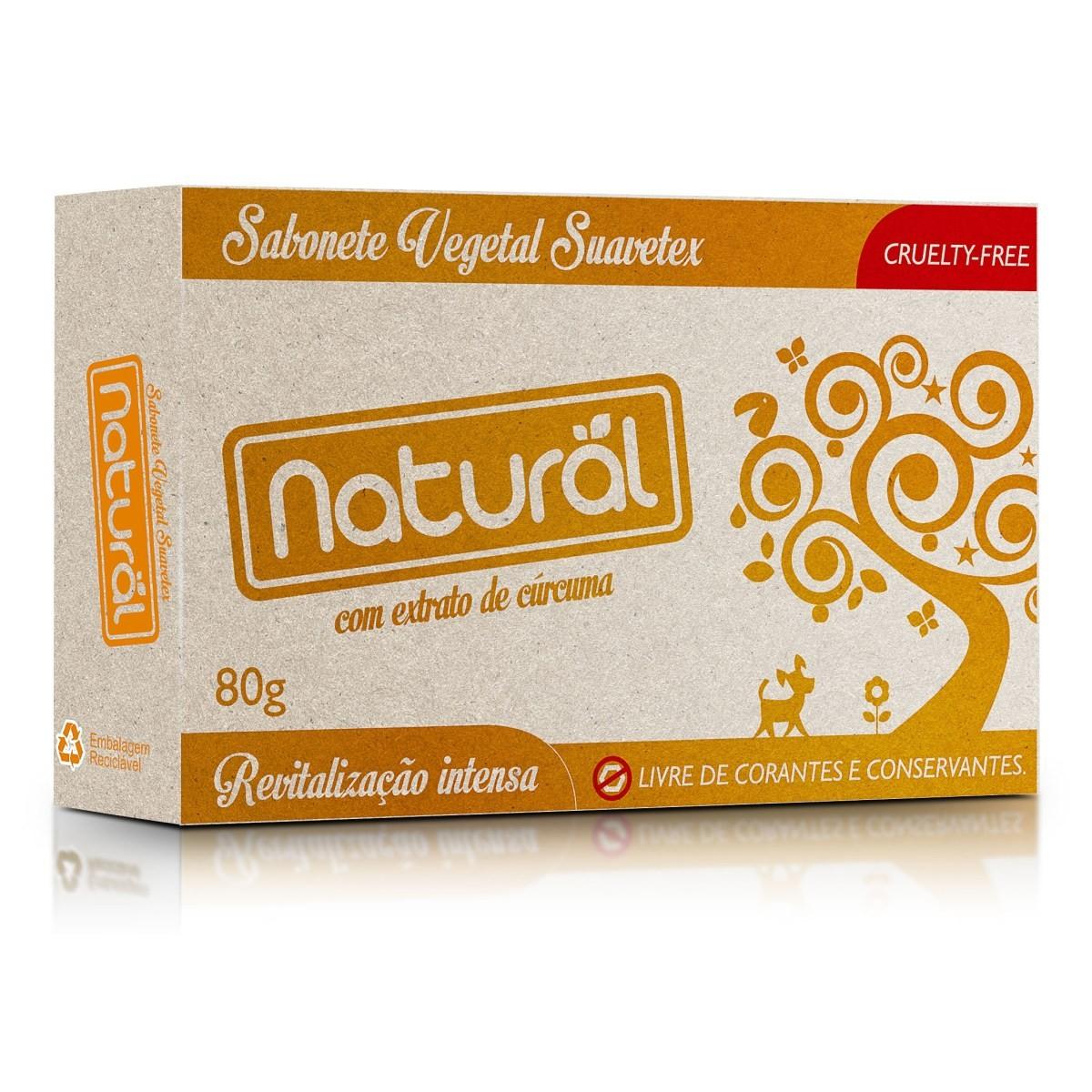Sabonete Vegano com Cúrcuma Natural 80 g