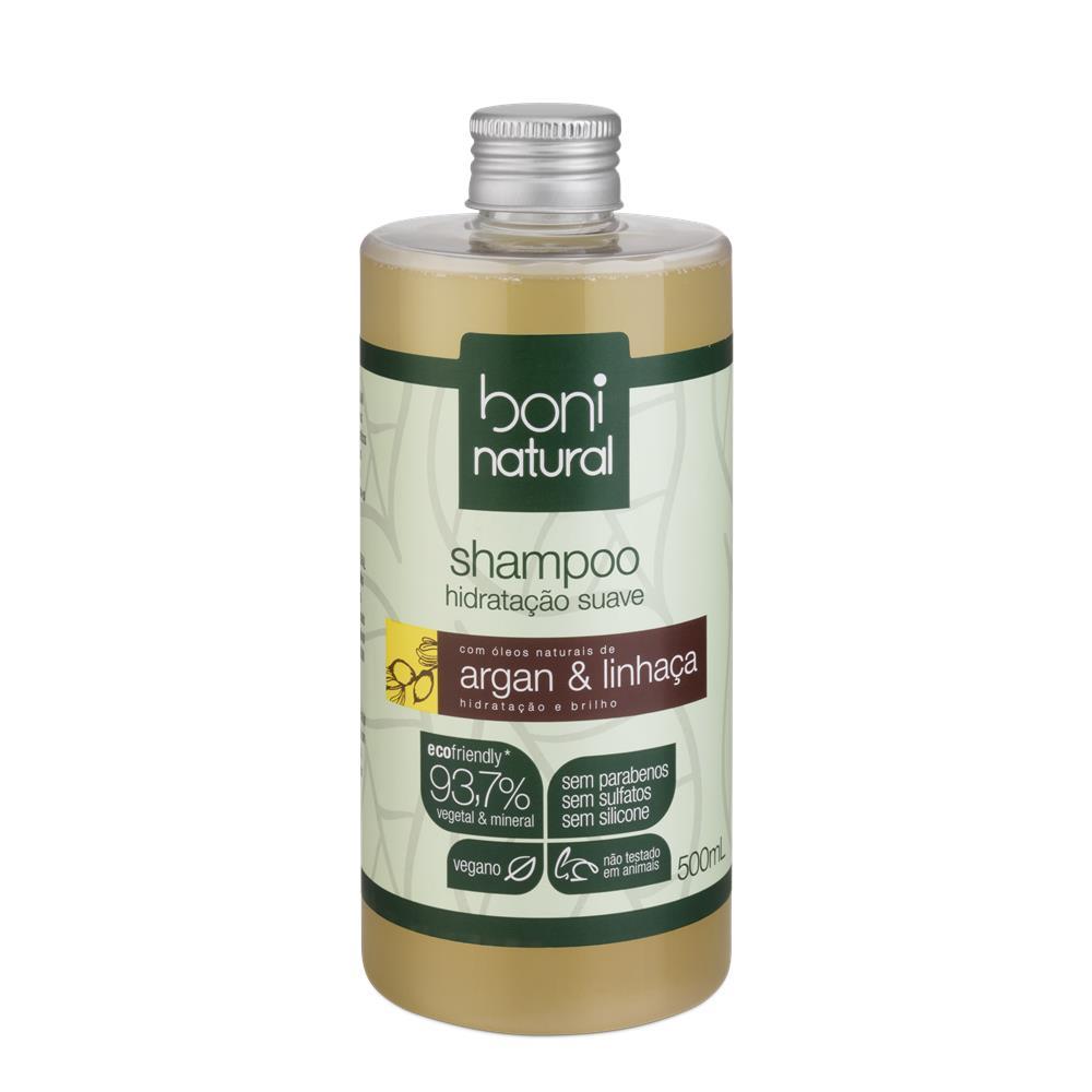 Shampoo Argan e Linhaça Boni 500 ml