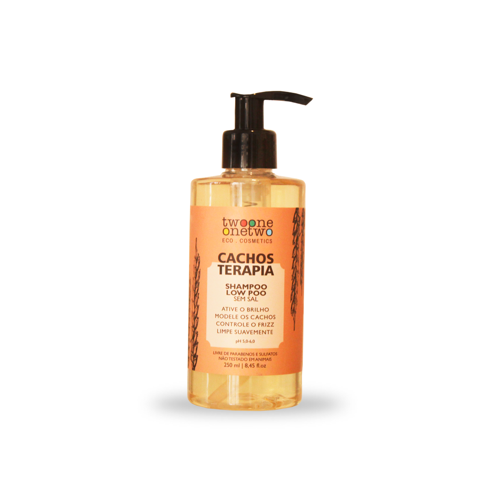 Shampoo Cacho Terapia Natural e Vegano Chia e Linhaça Twoone Onetwo 250 ml