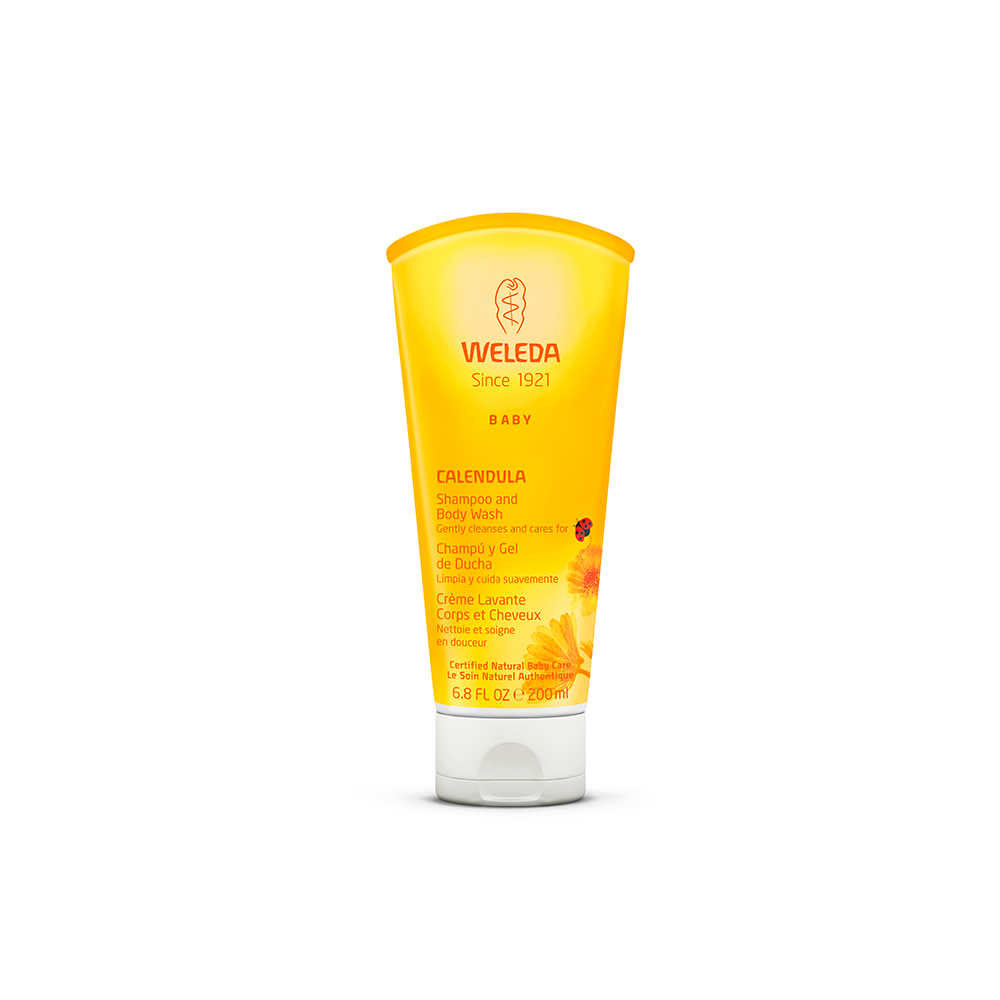 Shampoo e Body Wash Natural e Vegano Calêndula Weleda 200 ml
