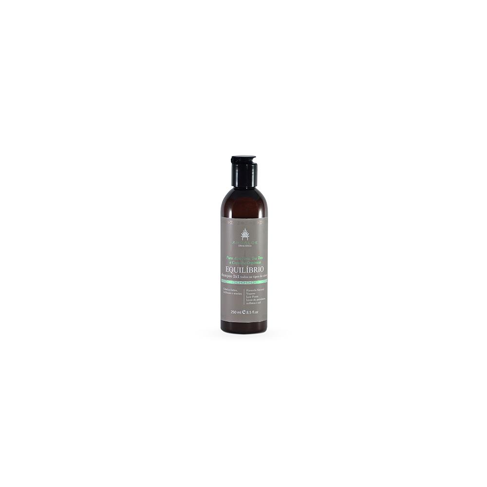 Shampoo Natural e Vegano AhoAloe Reequilíbrio 250 ml