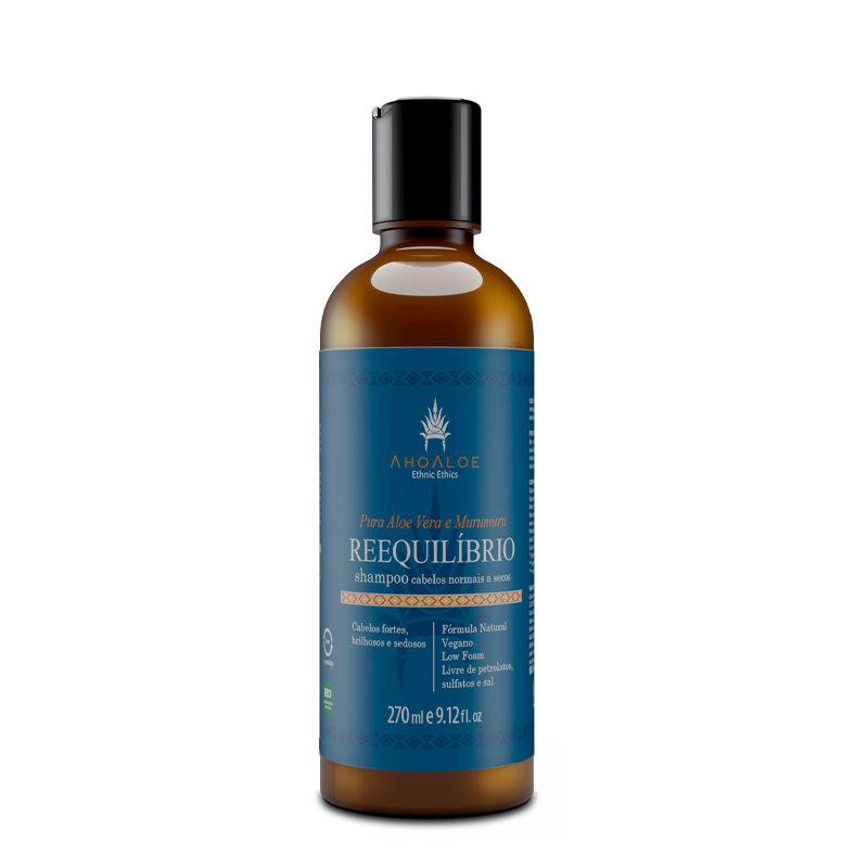 Shampoo Natural e Vegano AhoAloe Reequilíbrio 270 ml