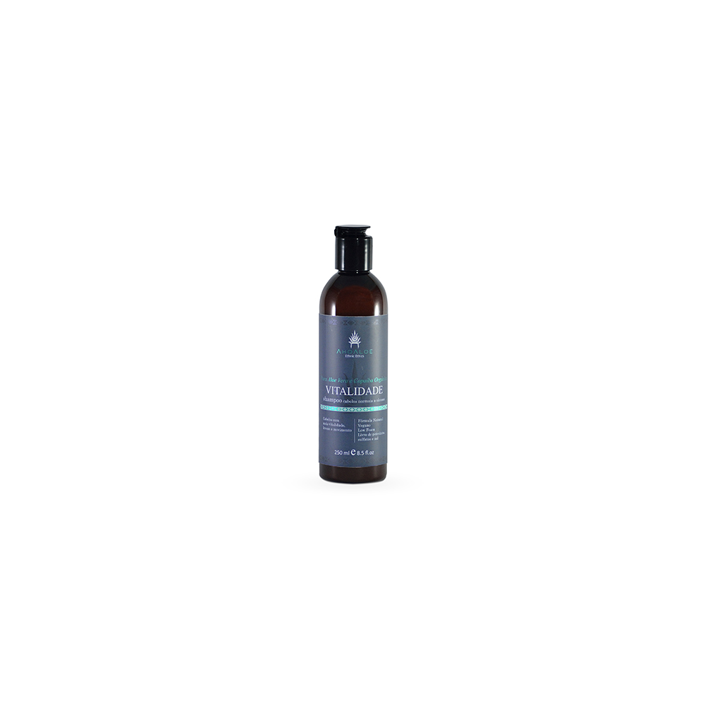 Shampoo Natural e Vegano AhoAloe Vitalidade 250 ml