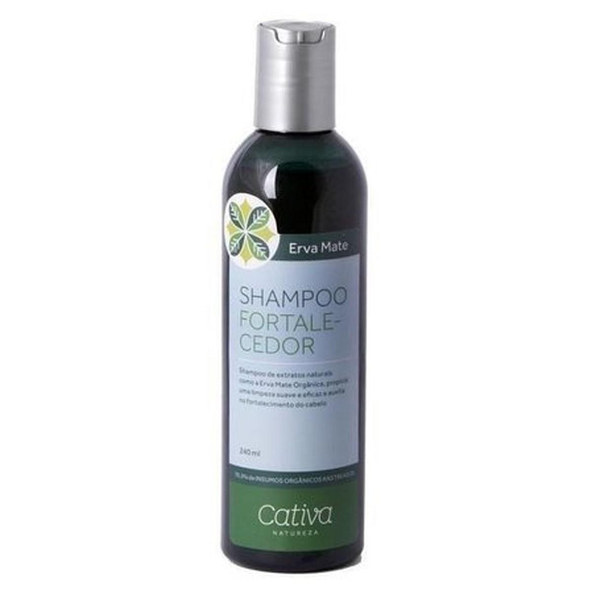 Shampoo Natural e Vegano Cativa Natureza Erva Mate Fortalecedor 240 ml