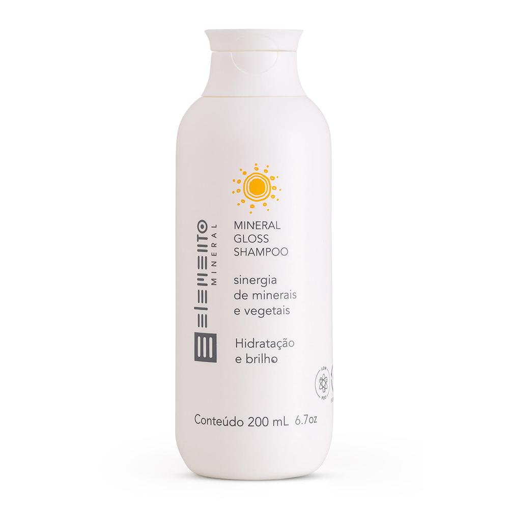Shampoo Natural e Vegano Mineral Gloss Elemento Mineral 200ml