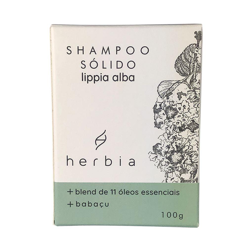 Shampoo Sólido Natural e Vegano Lippia Alba Herbia 100g