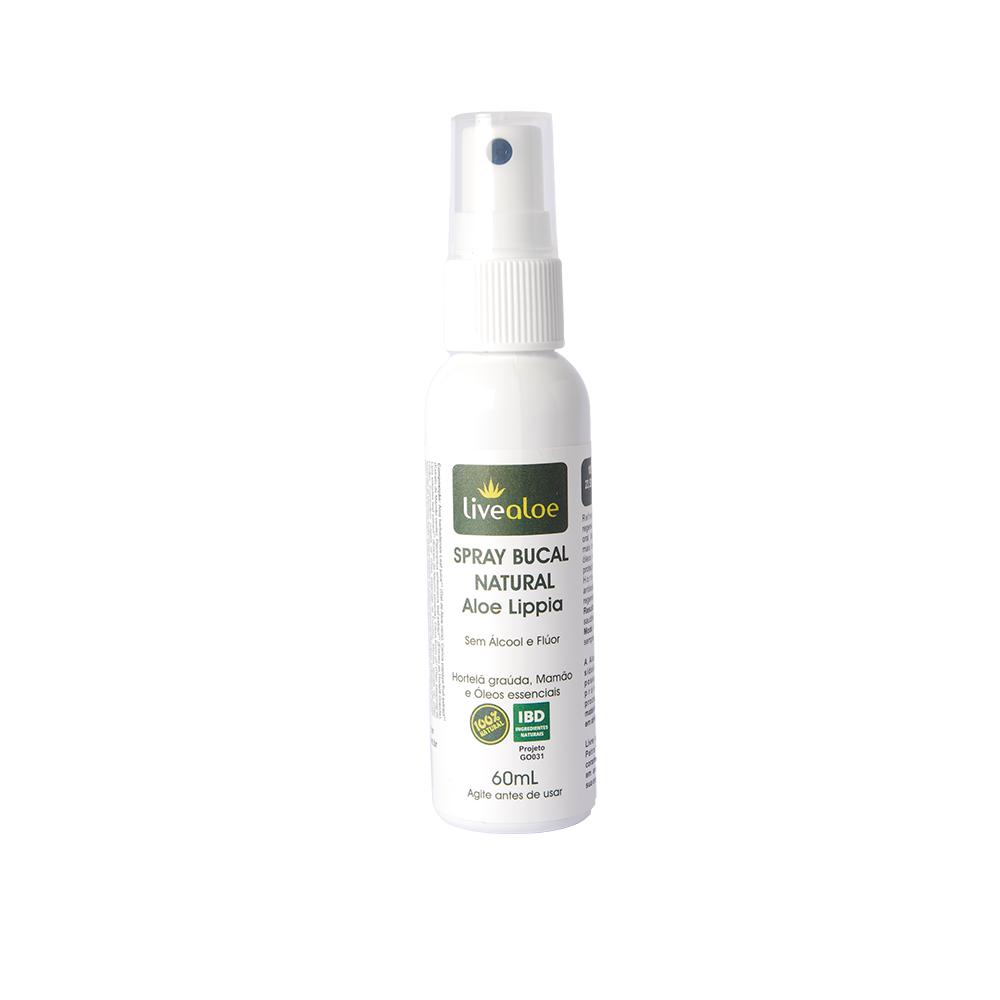 Spray Bucal Natural e Vegano Aloe Lippia Livealoe 60 ml