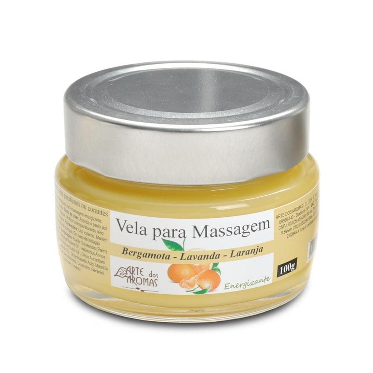 Vela Natural para Massagem Arte dos Aromas 100g