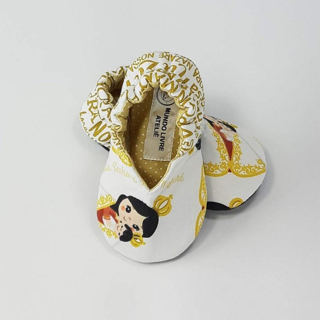 Coleção Santinhos - Sapatinho Pantufinha N. Sra. de Nazaré