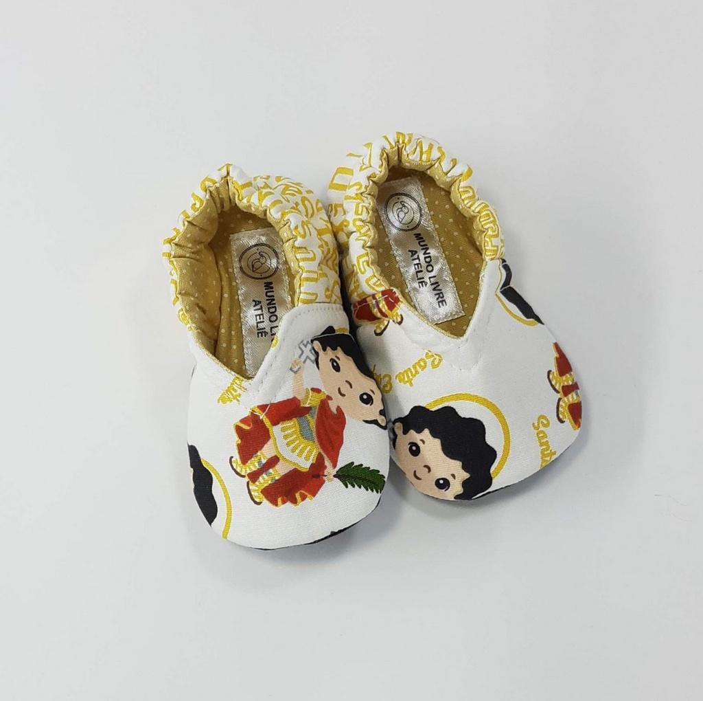 Coleção Santinhos - Sapatinho Pantufinha Santo Expedito