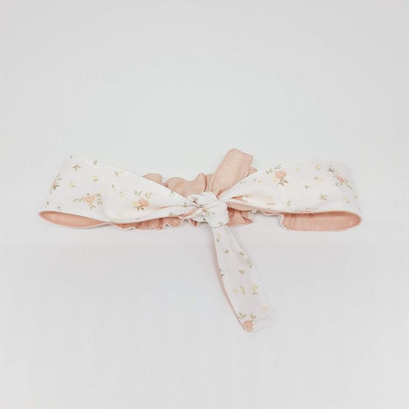 Faixa Lacinho Branco Floral