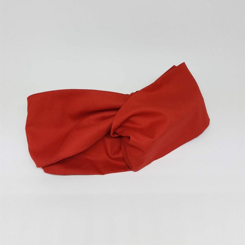 Faixa Meio Turbante Vermelha
