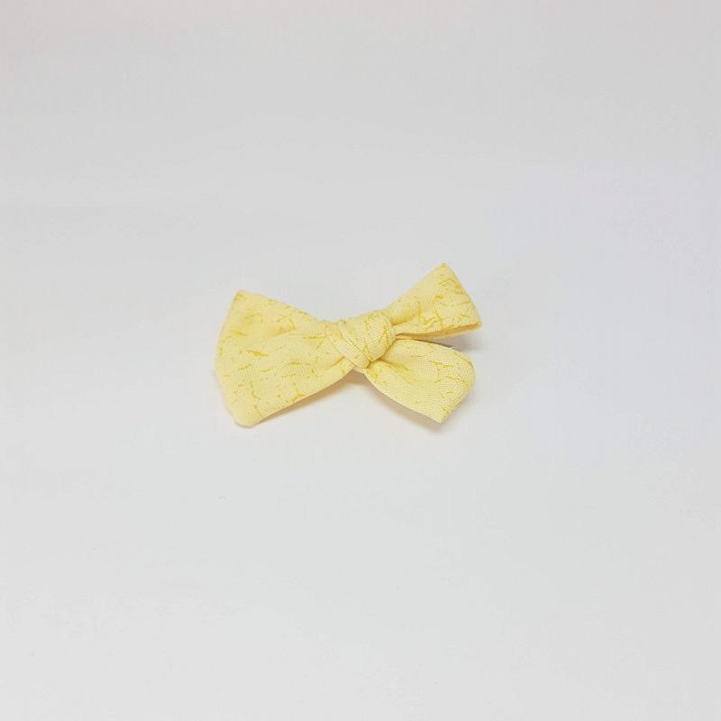 Laço Bico de Pato Amarelo Estampado
