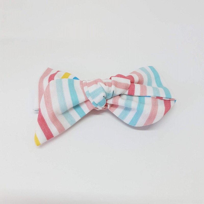Laço Bico de Pato Listrado Colorido