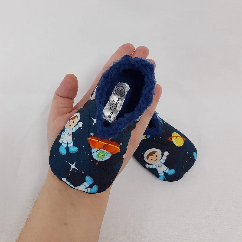 Pantufinha Astronauta com Pelúcia Azul