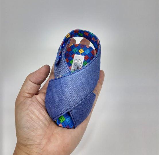 Sandalinha Cruzada Jeans