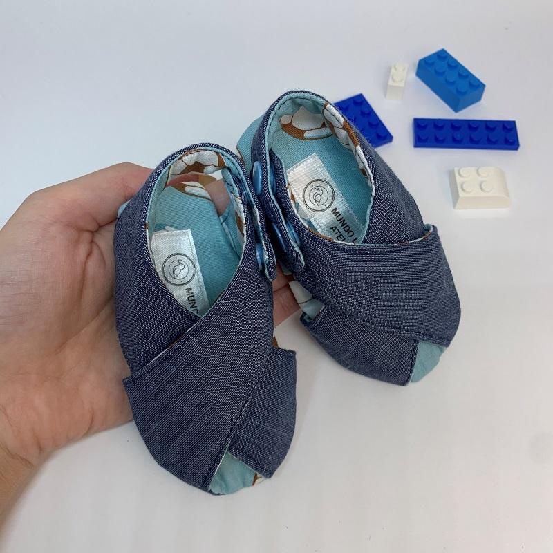 Sandalinha Cruzada Jeans Futebol