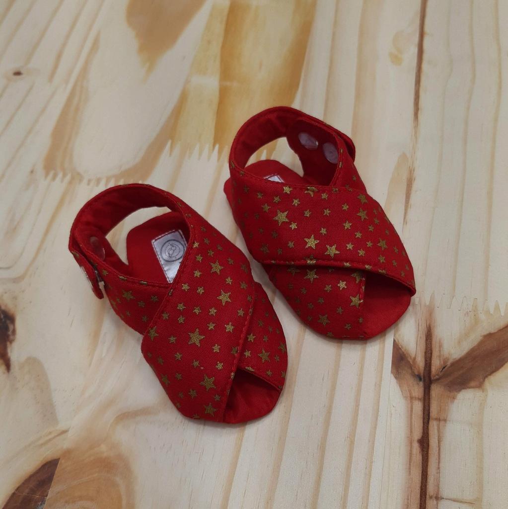 Sandalinha Cruzada Vermelha Natal