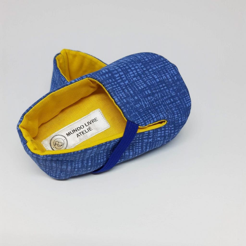 Sapatinho Nino Azul e Amarelo