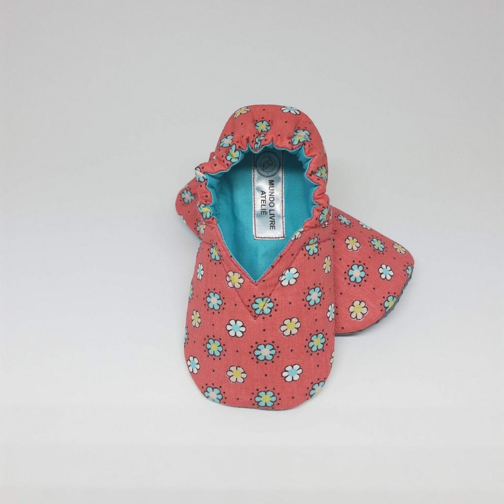 Pantufinha Rosa Florido