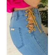 Calça jeans correntaria