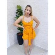 Conjunto short saia e cropped alfaiataria