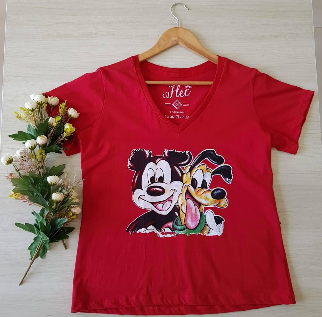 T-shirt plus size estampas
