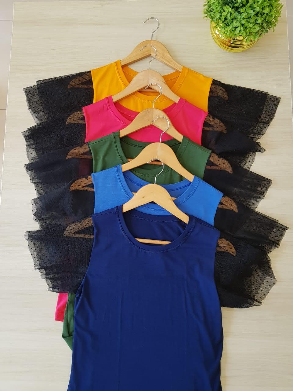 T-shirt tule cores