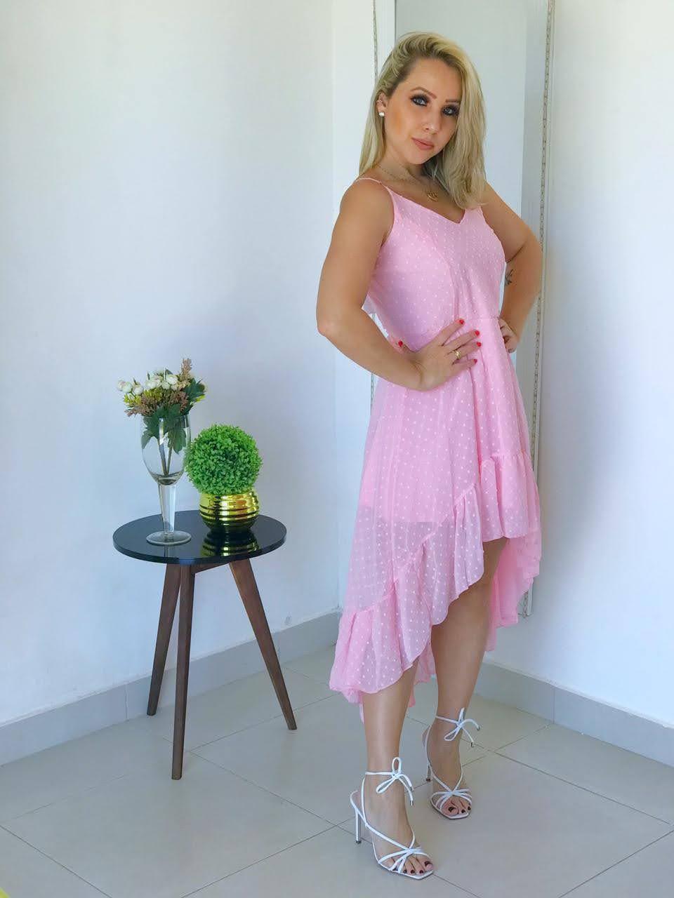 Vestido mullet rose