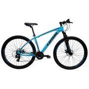 Bicicleta Lotus Aluminium Aro 29 21V - Azul e Preto
