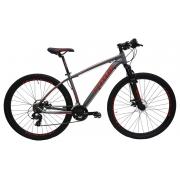Bicicleta Lotus Aluminium Aro 29 21V - Cinza e Vermelho