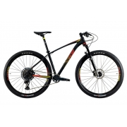 Bicicleta Oggi Big Wheel 7.6 Aro 29 12V - 2021 - Preto, Vermelho e Amarelo