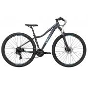 Bicicleta Oggi Float 5.0 HDS Aro 29 24V - Preto, Azul e Rosa