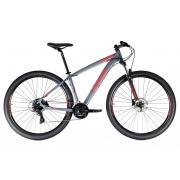 Bicicleta Oggi Hacker HDS Aro 29 24V - 2021 - Cinza e Vermelho