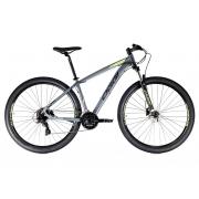 Bicicleta Oggi Hacker HDS Aro 29 24V - 2021 - Cinza, Preto e Verde