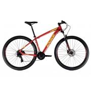 Bicicleta Oggi Hacker HDS Aro 29 24V - 2021 - Vermelho e Amarelo