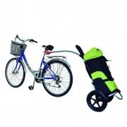Bike Trailer Carrinho Urbano Kiussi com Mochila - Preto e Verde