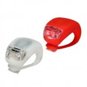 Kit Lanterna Dianteira e Traseira Art Sport Led Branco e Vermelho