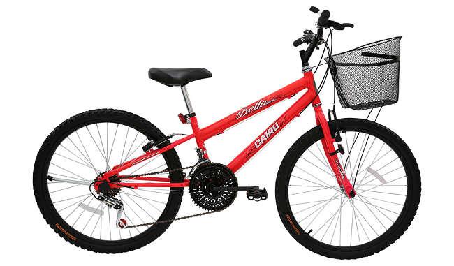 Bicicleta Cairu Bella Girl Aro 24 18V - Rosa
