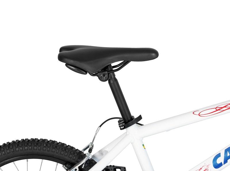 Bicicleta Caloi Cross Aro 20 - Branca e Azul