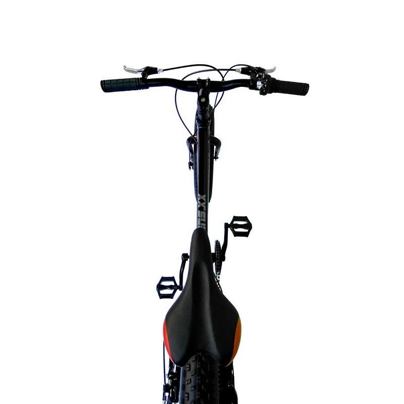Bicicleta Elleven Fat Bike Aliens XX Aro 20 7V - Preta e Vermelha