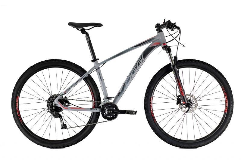 Bicicleta Oggi Big Wheel 7.0 Aro 29 18V - 2021 - Cinza e Vermelho