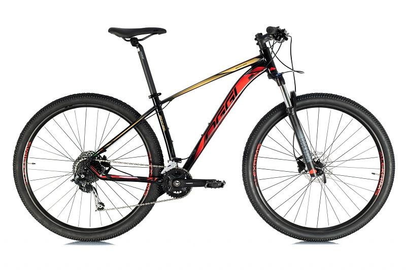 Bicicleta Oggi Big Wheel 7.1 Aro 29 18V - 2021 - Preto, Vermelho e Dourado