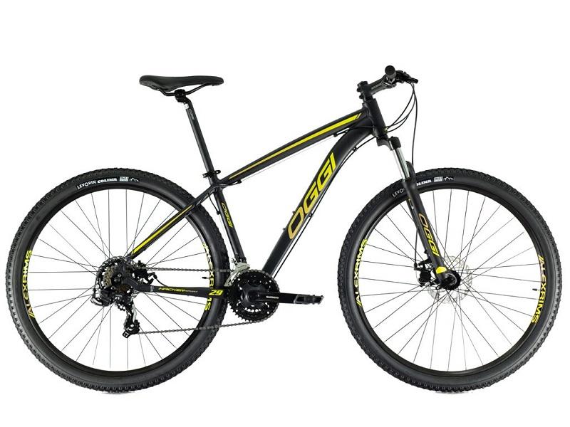 Bicicleta Oggi Hacker Sport Aro 29 21V - 2021 - Preto e Amarelo