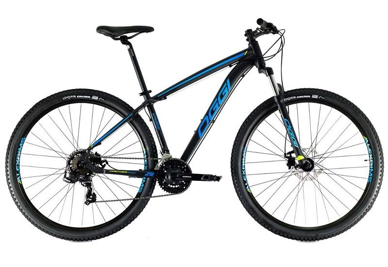 Bicicleta Oggi Hacker Sport Aro 29 21V - 2021 - Preto e Azul