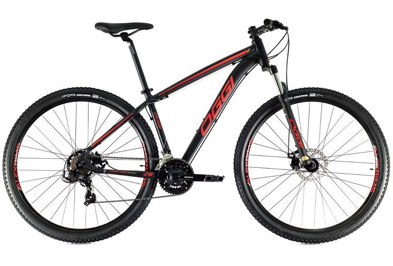 Bicicleta Oggi Hacker Sport Aro 29 21V - 2021 - Preto e Vermelho